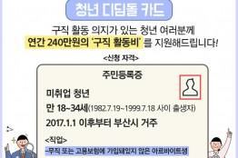 부산시'청년 디딤돌 카드 2차 사업'추진