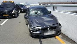 김해공항 BMW 택시 충돌 블랙박스 영상